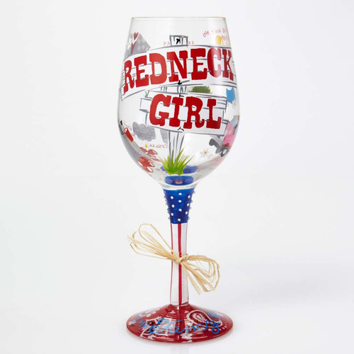 The perfect gift for that sassy lady, great for any occasion! All Lolita Wine Glasses come packaged in a signature gift box with a unique recipe. Every glass is mouth blown and hand painted.  15 oz capacity