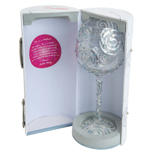 """One In A Million"" Super Bling Wine Glass by Lolita"