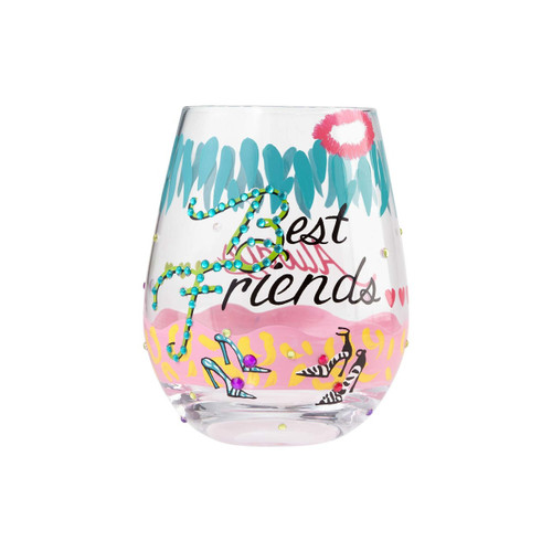 Lolita glasses combine hand painted accents with sassy messages that help you celebrate any occasion in style. Arrives in a beautiful gift box with the Lolita signature under the base of the glass. Made from artisan blown glass.  20 oz capacity