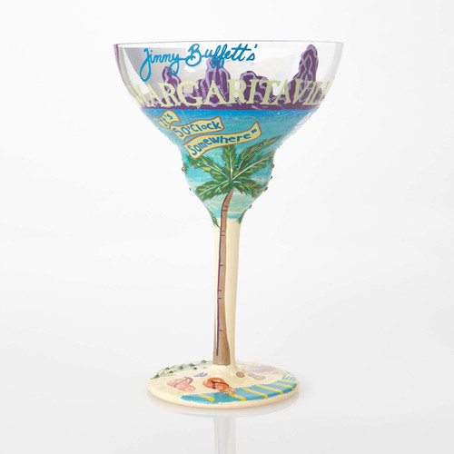 One drink away from being whisked away to a tropical dream with the new Lolita Margaritaville Margarita glass. All Lolita Glasses come packaged in a signature gift box with a unique recipe. Every glass is mouth blown and hand painted.   12 oz capacity