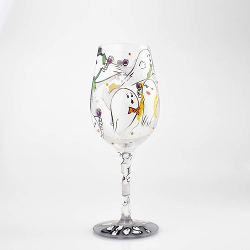 """""""Toast From a Ghost"""" Wine Glass by Lolita"""