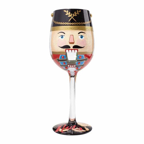 """Let's Go Nuts"" Wine Glass by Lolita"