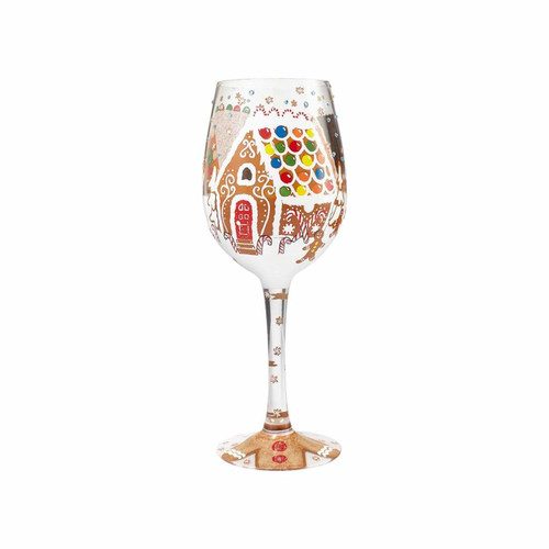 """Gingerbread Wonderland"" Wine Glass by Lolita"