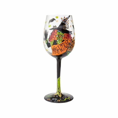 """""""Miss Witch"""" Wine Glass by Lolita"""