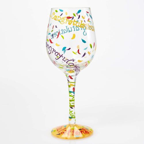"""""""Congratulations"""" Wine Glass by Lolita"""