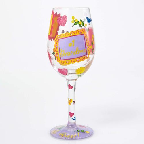 """#1 Grandma"" Wine Glass by Lolita"