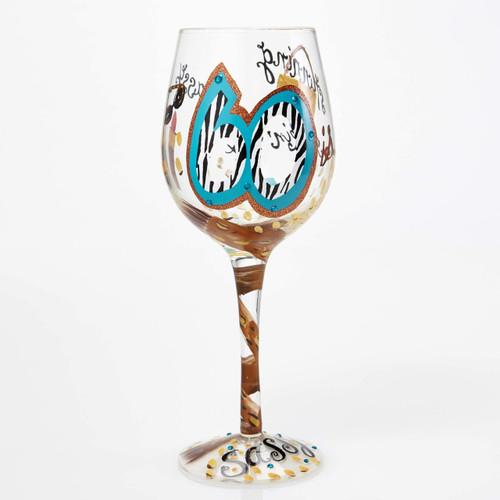 """60 and Sassy"" Wine Glass by Lolita"