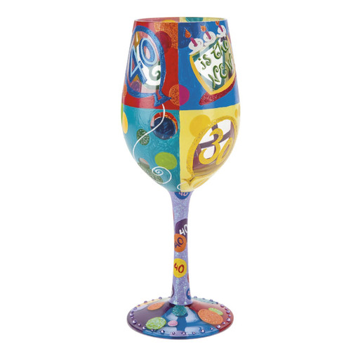 """40 Is The New 30"" Wine Glass by Lolita"