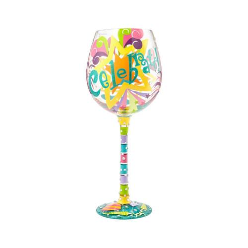 """""""Celebrate"""" Super Bling Wine Glass by Lolita"""