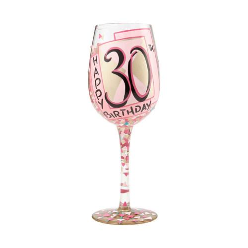 """30th Birthday"" Wine Glass by Lolita"
