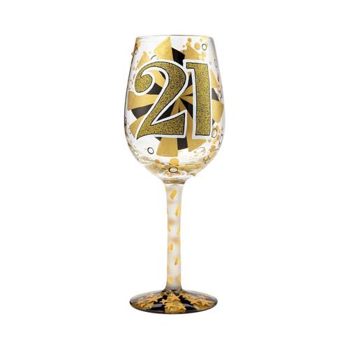 """21st"" Wine Glass by Lolita"