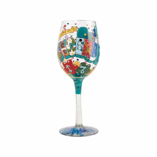 """""""December Birthday"""" Wine Glass by Lolita"""