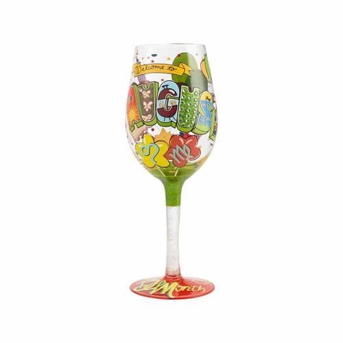 """August Birthday"" Wine Glass by Lolita"