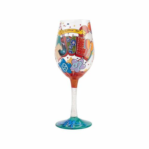 """July Birthday"" Wine Glass by Lolita"
