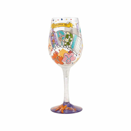 """April Birthday"" Wine Glass by Lolita"
