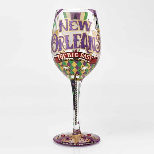 """The Big Easy"" Wine Glass by Lolita"