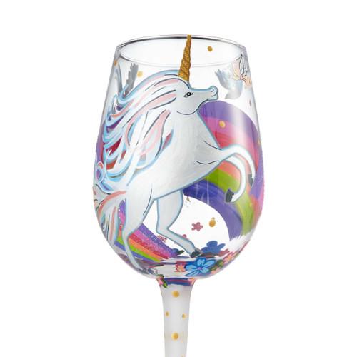 """Unicorn"" Wine Glass by Lolita"