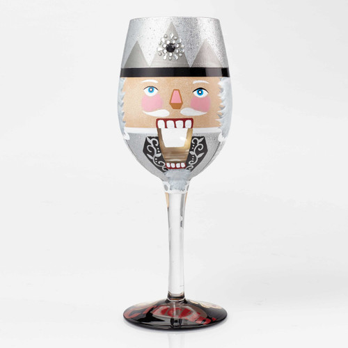 """Get Crackin"" Wine Glass by Lolita"