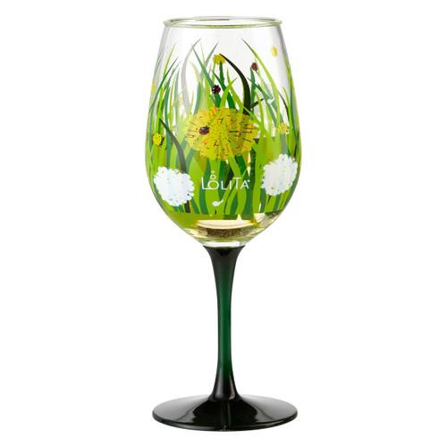"""""""Dandelion"""" Set of 2 Acrylic Wine Glass by Lolita"""