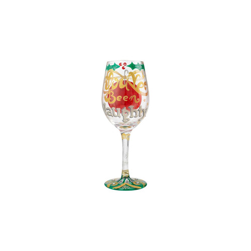 """Naughty X-mas"" Wine Glass by Lolita"