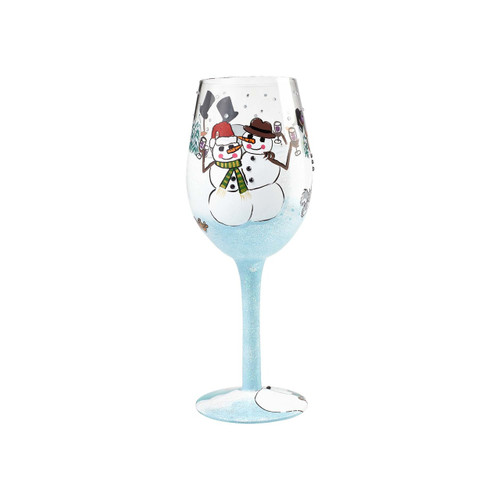 """Chilly Cheers"" Wine Glass by Lolita"