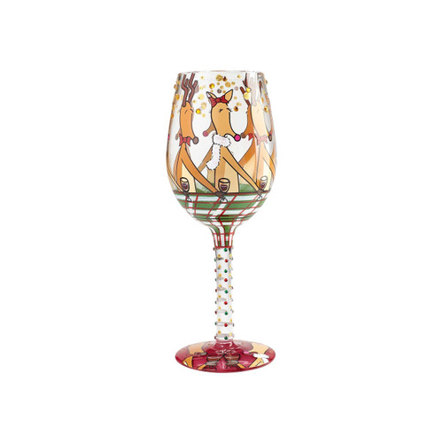 """Reindeer Party"" Wine Glass by Lolita"