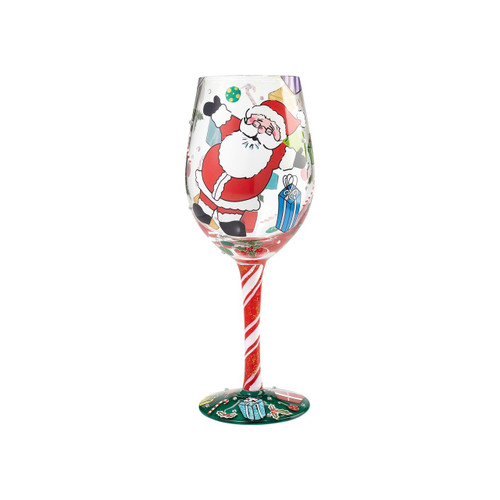 """Claus Celebration"" Wine Glass by Lolita"