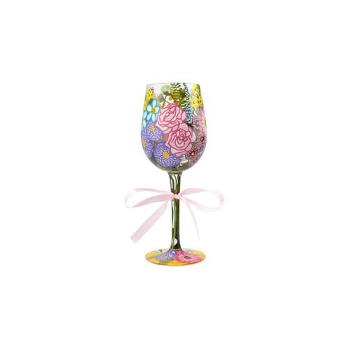 """Spring"" Wine Glass by Lolita"