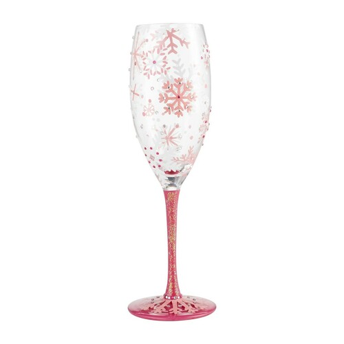 """Blush Snowflake"" Prosecco Cocktail Glass by Lolita"