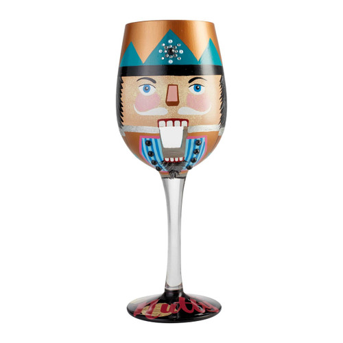 """Let's Be Nutty"" Wine Glass by Lolita"