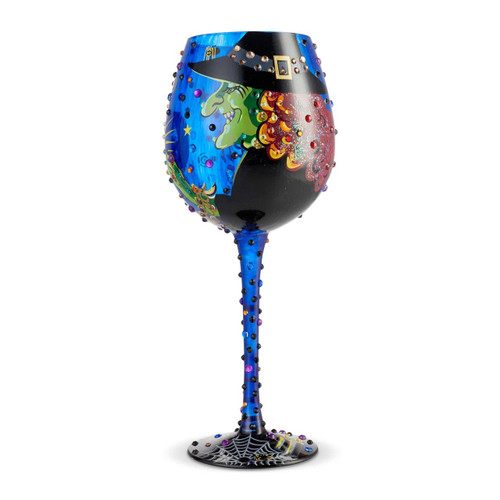 """""""Cast a Spell"""" Super Bling Wine Glass by Lolita"""