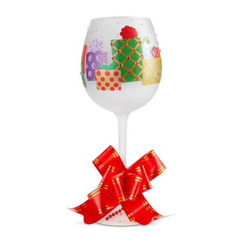 """Yuletide"" Super Bling Wine Glass by Lolita"