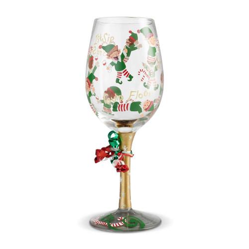 """Tipsy Elf"" Wine Glass by Lolita"