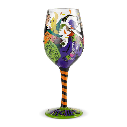"""Cheers Witches"" Wine Glass by Lolita"