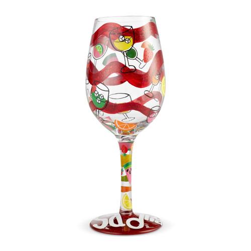 """Sangria, Too"" Wine Glass by Lolita"
