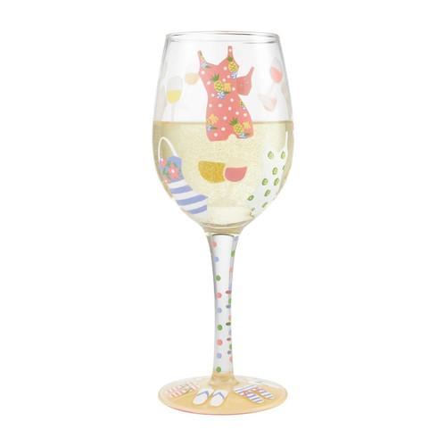 """Cabana Cutie"" Wine Glass by Lolita"