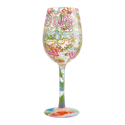 """""""Wine Wednesday"""" Wine Glass by Lolita"""