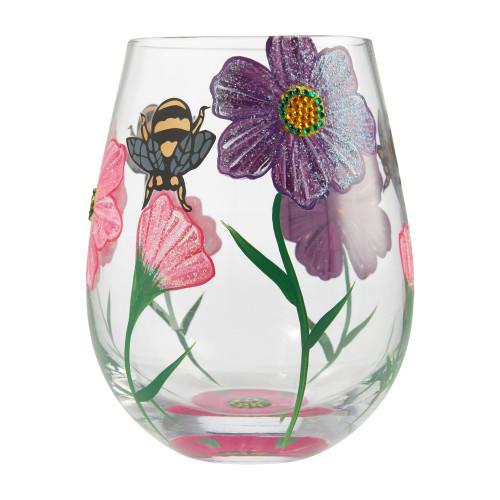 """My Drinking Garden"" Stemless Wine Glass by Lolita"