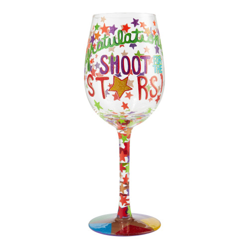"""""""Shoot for the Stars"""" Wine Glass by Lolita"""