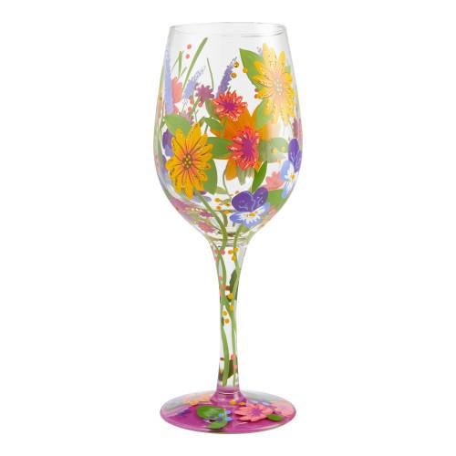 """Wine in the Garden"" Wine Glass by Lolita"