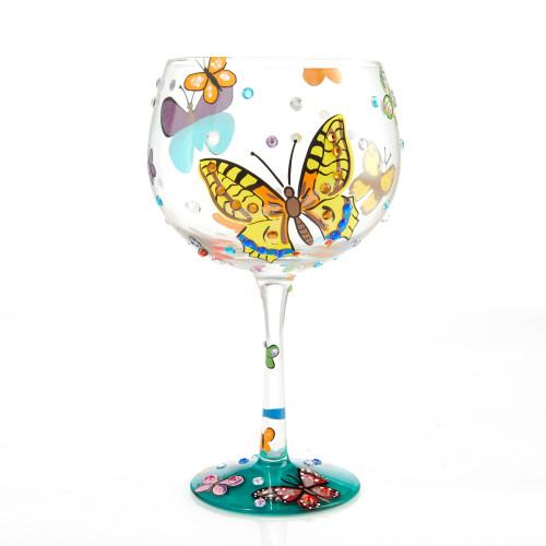 """Butterflies"" Copa Glass by Lolita"