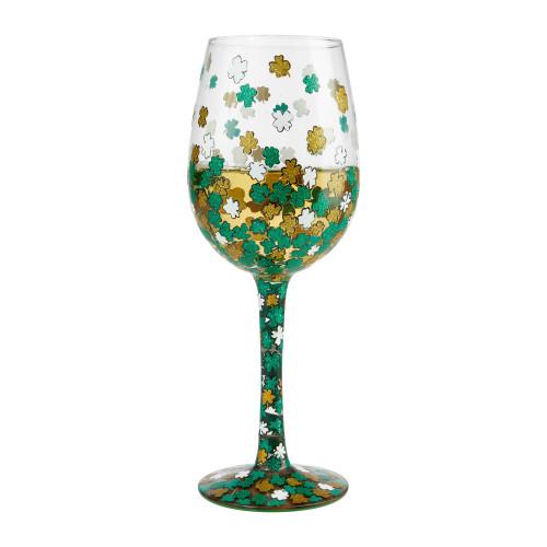 """Shamrock"" Wine Glass by Lolita"