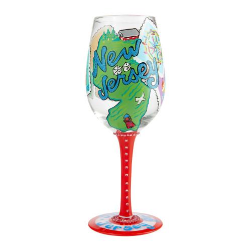 """Jersey Girl"" Wine Glass by Lolita"