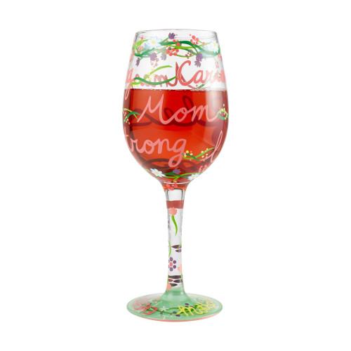 """Mom"" Wine Glass by Lolita"