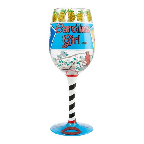 """Carolina Girl"" Wine Glass by Lolita"