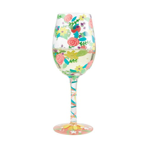 """""""Spring Floral"""" Wine Glass by Lolita"""