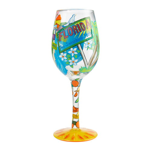 """""""Florida Fun"""" Wine Glass by Lolita"""
