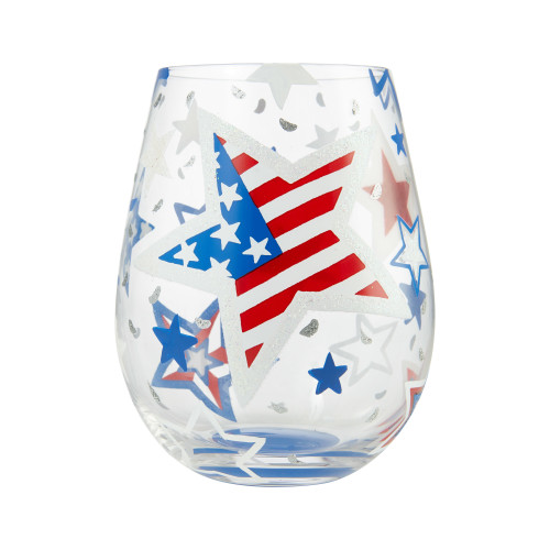 """Home of the Brave"" Stemless Wine Glass by Lolita"