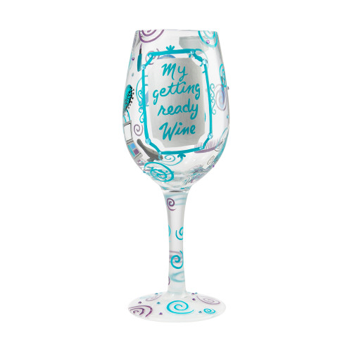 """Getting Ready Wine"" Wine Glass by Lolita"