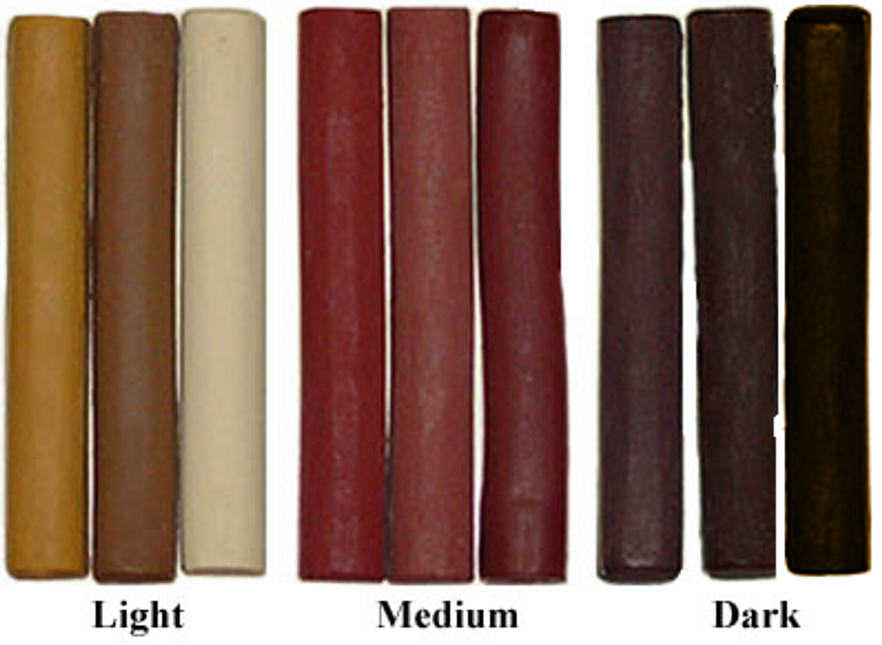 Light, Medium and Dark toned sets of three Filler Sticks